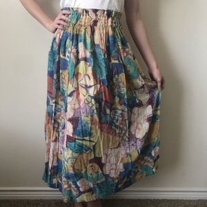 80's Adini Faces Skirt Indian Cotton